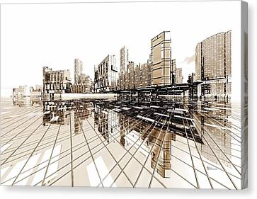 Poster-city 4 Canvas Print by Max Steinwald