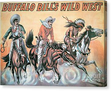 Wild Horses Canvas Print - Poster For Buffalo Bill's Wild West Show by American School