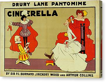 Poster For Cinderella Canvas Print by Tom Browne
