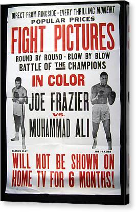 Poster For The First Joe Frazier Vs Canvas Print by Everett