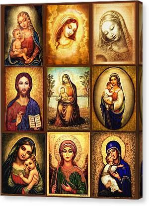 Poster Madonnas 1 Canvas Print by Ananda Vdovic