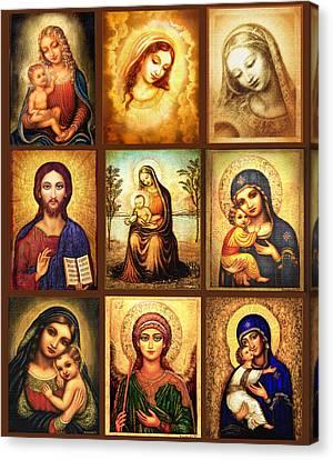 Poster Madonnas 2 Canvas Print by Ananda Vdovic
