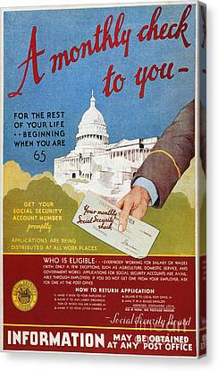 D.c. Canvas Print - Poster: Social Security by Granger