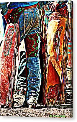 Giselaschneider Canvas Print - Postured Cowboys ... Montana Art Photo by GiselaSchneider MontanaArtist