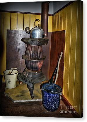 Pot Belly Stove  Canvas Print by Paul Ward
