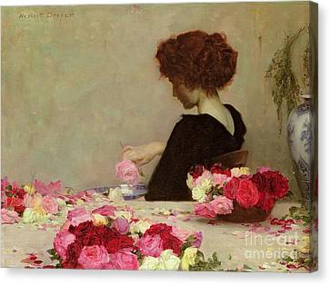 Female Canvas Print - Pot Pourri by Herbert James Draper