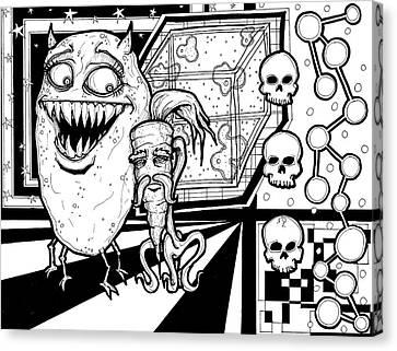 Potato Carrot Montage Canvas Print by Christopher Capozzi