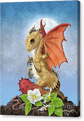 Canvas Print featuring the digital art Potato Dragon by Stanley Morrison