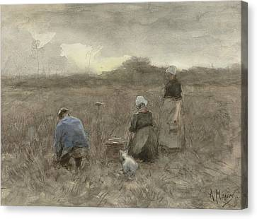 Potato Harvesters Canvas Print by Anton Mauve