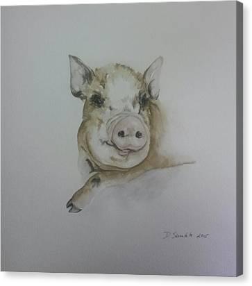 Potbelly Piglet Canvas Print