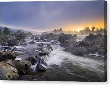 Great Falls Park Canvas Print - Potomac Light by Joseph Rossbach