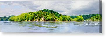 Canvas Print featuring the photograph Potomac Palisaides by Francesa Miller