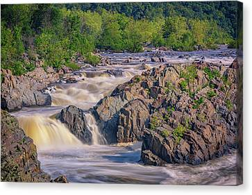 Potomac River At Great Falls Park Canvas Print