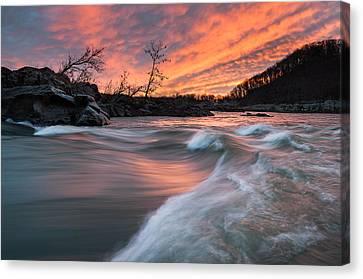 Great Falls Park Canvas Print - Potomac River Mather Gorge Sunrise by Mark VanDyke