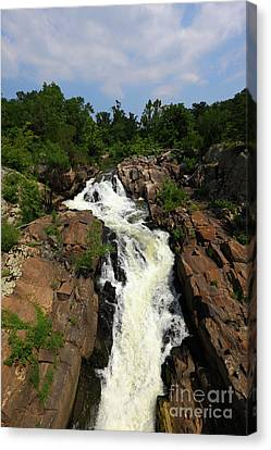 Potomac River Waterfall And Olmsted Island Canvas Print