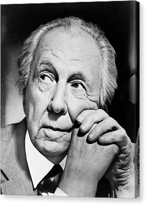 Potrait Of Frank Lloyd Wright Canvas Print by Underwood Archives