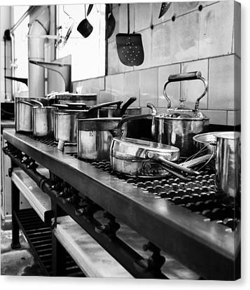 Canvas Print featuring the photograph Pots And Pans by Michael Hope