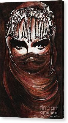 Hijab Canvas Print by Qasir Z Khan