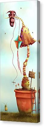 Trolls And Ladders.  Canvas Print