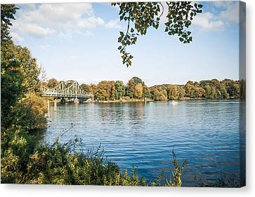 Potsdam - Havel River / Glienicke Bridge Canvas Print by Alexander Voss