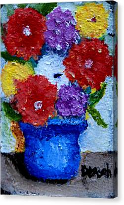 Potted Flowers Canvas Print