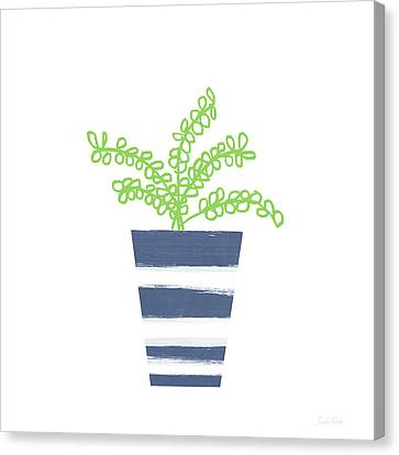 Canvas Print featuring the mixed media Potted Plant 1- Art By Linda Woods by Linda Woods
