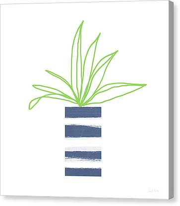 Succulent Canvas Print - Potted Plant 2- Art By Linda Woods by Linda Woods