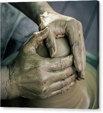 Hand Crafted Canvas Print - Potter's Hand by Hyuntae Kim