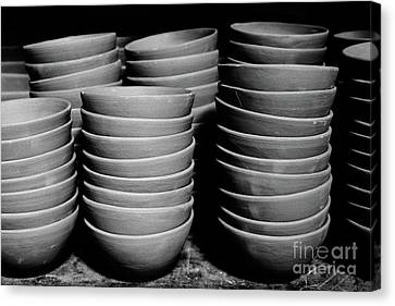 Pottery Bowls Canvas Print by Gaspar Avila