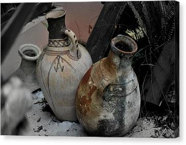Canvas Print featuring the photograph Pottery by Laura DAddona