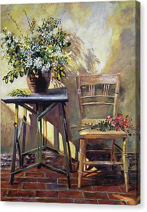 Pottery Maker's Table Canvas Print by David Lloyd Glover