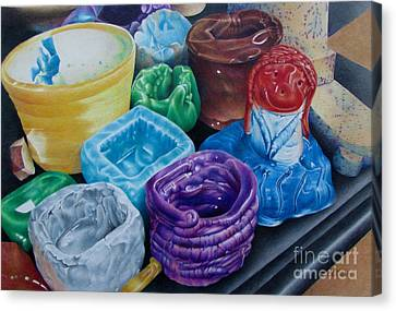 Pottery Princess Canvas Print by Pamela Clements