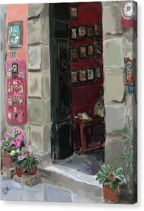 Pottery Shop Canvas Print by Patti Siehien