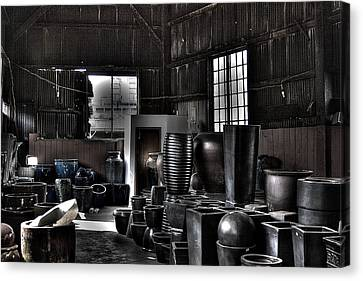 Pottery Warehouse Canvas Print by David Patterson