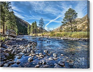 Poudre River Rocks Canvas Print