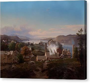 Poughkeepsie Iron Works Canvas Print by Mountain Dreams