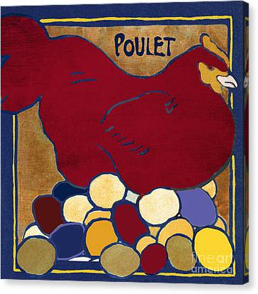 Poulet II Canvas Print by Mindy Sommers