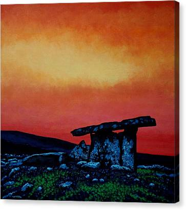 Archaeology Canvas Print - Poulnabrone Dolmen Ireland by John  Nolan