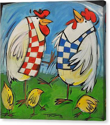 Poultry In Motion Canvas Print by Tim Nyberg
