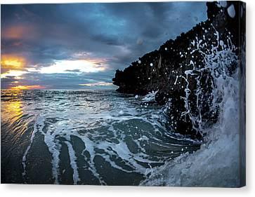 Ledge Canvas Print - Pounding Foam by Sean Davey