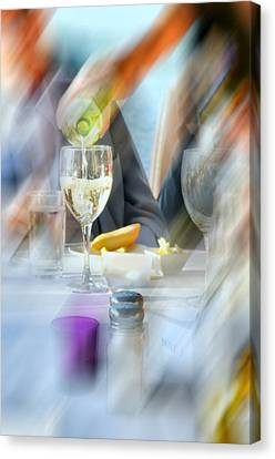 Pouring Wine Canvas Print - Pour Me One More by Diana Angstadt