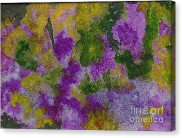 Canvas Print featuring the painting Pouring Flowers by Vicki  Housel