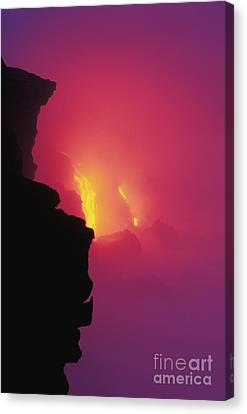 Pouring Lava Canvas Print by William Waterfall - Printscapes