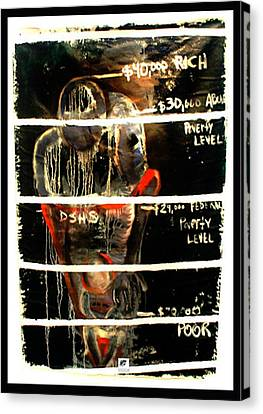 Canvas Print featuring the painting Poverty Line by Carol Rashawnna Williams