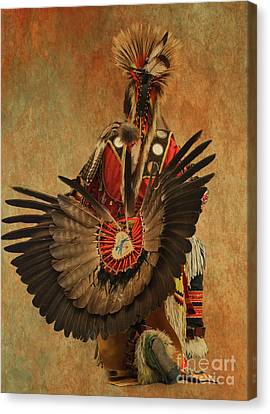 Canvas Print featuring the mixed media Pow Wow 2 by Jim  Hatch