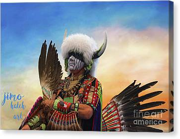 Canvas Print featuring the photograph Pow Wow 3 by Jim  Hatch