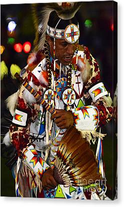 Fancy-dancer Canvas Print - Pow Wow Beauty Of The Past 10 by Bob Christopher