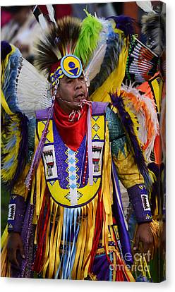 Fancy-dancer Canvas Print - Pow Wow Beauty Of The Past 13 by Bob Christopher