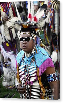 Fancy-dancer Canvas Print - Pow Wow Beauty Of The Past 14 by Bob Christopher