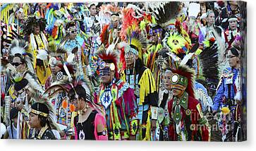 Fancy-dancer Canvas Print - Pow Wow Beauty Of The Past 4 by Bob Christopher